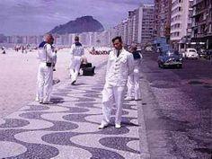 Av. Atlântica, em Copacabana - 1964