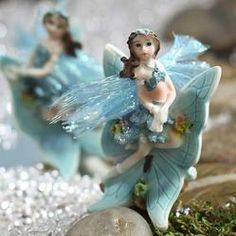 Miniature Turquoise Fairy - Miniatures - View All - Dollhouse Miniatures - Doll Making Supplies - Craft Supplies
