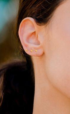 Spike Studs, Silver Small Stud Earrings, Cartilage earring, Helix stud, Tiny Spike Stud Earrings