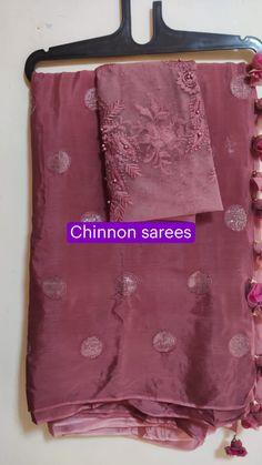 Cotton Saree Designs, Silk Saree Blouse Designs, Saree Blouse Patterns, Blouse Styles, Fancy Dress Design, Stylish Dress Designs, Sewing Patterns, Fancy Sarees Party Wear, Black Blouse Designs