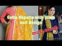 Simple suit with gotta dupatta beautiful design Channel, Suits, Watch, Simple, Youtube, Beautiful, Design, Fashion, Moda