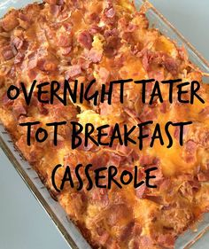 Overnight Tater Tot Breakfast Casserole - Lots of Recipes - Overnight Tater Tot Breakfast Casserole, easy breakfast casseroles, overnight breakfast dishes, tate - Breakfast Party, Christmas Breakfast Casserole, Tater Tot Breakfast Casserole, Overnight Breakfast Casserole, Sausage Breakfast, Breakfast Dishes, Breakfast Ideas, Breakfast Recipes, Sausage Casserole