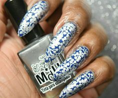 Magical Marquesas-Stamping Saturdays #1  #nails #naturalnails #almondnails #nailart #naildesigns #stamping #stampingnailart #blue #silver #opi #mundodeunas #bundlemonster #notd #nailpolish #nailartdesigns #nailsoftheday #nailpolishaddict #nailpolishlover #nailartaddict #nailartlover #nailswag #nailpolishblogger Bundle Monster, Stamping Nail Art, Beautiful Nail Designs, Almond Nails, Natural Nails, Swag Nails, Opi, Nail Art Designs, Nailart