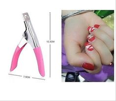 Hot Stainless Steel Nail Clipper Scissor Acrylic Gel False Nail Tip Cutter Clipper Nail Tool 1pc
