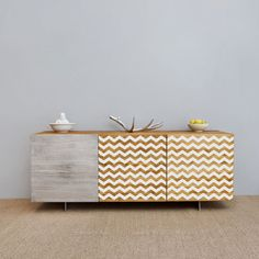 Furniture Chevron Stripes vinyl pattern decal for your furniture decor hack - ideal for dressers, IKEA closets, beds, kitchen cabinets Kitchen Furniture, Furniture Decor, Painted Furniture, Ikea Cabinets, Kitchen Cabinets, Ikea Kitchen, Cupboards, Chevron, Houses