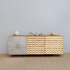 Meubles rayures Chevron vinyle modèle decal pour votre décor de meubles hack - idéal pour les placards IKEA, lits, commodes, armoires de cuisine