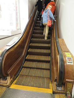 Built in 1902, Macy's at 151 West 34th Street in New York City was the first building in the world to have a modern-day escalator, and it was made of wood. You can see still see Macy's wooden escalator in use today >>> Interesting I had no idea!