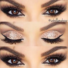 Pick the best combination of eyeshadow for brown eyes, and you will be the queen in every room you enter. Check out our photo gallery. #makeup #makeuplover #browneyes #makeupartist