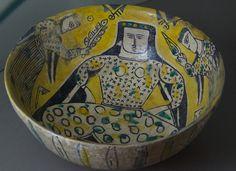 Ceramic Bowl, 10th Century A.D., Nishapur, Persia Ceramic bowl, under-glaze painted, wheel made, 10th century A.D., Nishapur, Persia. In the collection of the Glass and Ceramics Museum, Tehran, Iran.