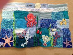 Under the sea - handmade crocheted sensory weighted blanket