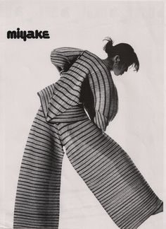 Issey Miyake print ad. Source and exact date unknown, but sometime late 80's. #vintage #miyake #issey miyake #1989 fashion
