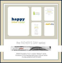 Journal cards sobre el dia del padre