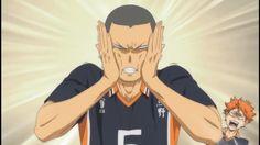 This guy is the best! Tanaka Haikyuu, Nishinoya Yuu, Oikawa, Haikyuu Episodes, Haikyuu Characters, Manga Boy, Haikyuu Fanart, Haikyuu Anime, Tanaka Ryuunosuke