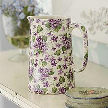 Medium Wild Violets Chintz Pottery Jug....yum