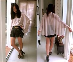 Nude Drapes (by Leonie Leong) http://lookbook.nu/look/2337841-Nude-Drapes