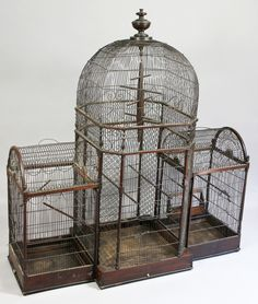 Regency Mahogany Bird Cage, The bird cage is equally a property for the chickens and a pretty tool. You can select anything you want on the list of bird cage models and get a great deal more specific images. Bird Cage Design, Antique Bird Cages, List Of Birds, Boutique Vintage, Bird Aviary, Vintage Birds, Vintage Birdcage, Shabby, Bird Feathers