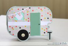 Happy Camper by @maryannjenkins for 3 Birds Design, using the new Midday Medley collection! maryannjenkins.com