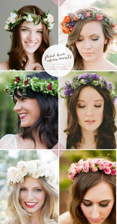 46 Romantic Wedding Hairstyles with Flower Crown DIY Tutorials | http://www.deerpearlflowers.com/46-romantic-wedding-hairstyles-with-flower-crown-diy-tutorials/ #weddinghairstyles