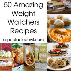 "Pinning now to look at later. See if there's anything I want to make on here. I prefer my food to be full flavor (and full fat/salt/bacon, etc) but I'll give it a look. ""50 Weight Watchers Recipes"""