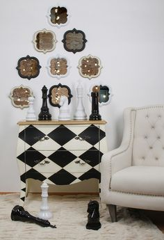 Modern style by inart: a beautiful #drawer an amazing #armchair and great wall mirrors! www.inart.com
