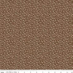 Aesop's Fable Tiny Flower Brown Fabric by Riley by SewFancyFabrics