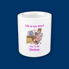 Life is too short - morphing mug