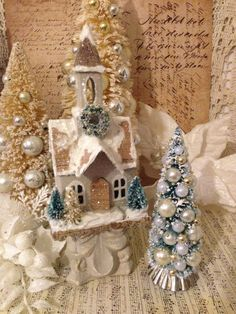 Vintage Christmas Village Church Matching by ThePokeyPoodle