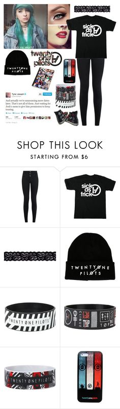 """Twenty one pilots concert"" by emmcg915 ❤ liked on Polyvore featuring New Look and Akira"