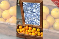 Lisbon Traditional Tiles Azulejos - (Mockup)  [Discover Lisbon's tradition with my hand drawn traditional Portuguese Tiles Azulejos.]