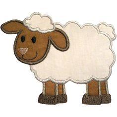 applique patterns free | Lamb Applique Design