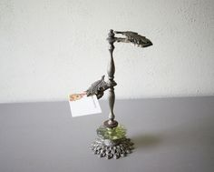 Leaf+Clip+Stand++Victorian+Style+Display+Stand++Aged+by+susantique