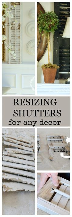 RESIZING SHUTTERS-to fit any decor-step by step instructions-stonegableblog.com