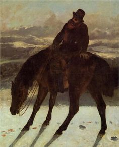 Hunter on Horseback, Redcovering the Trail Artist: Gustave Courbet Completion Date: 1864