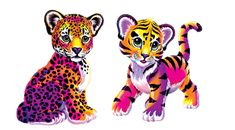 All your 4th grade friends wanted this Lisa Frank Cheetah's colorful style!