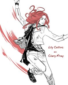 Cassandra Jean - The Mortal Instruments character portraits (Lily Collins as Clary Fray)