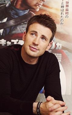 Chris Evans - my captain america oh yea!