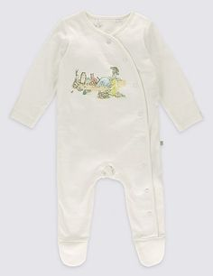 Winnie The Pooh Side Opening Cotton Sleepsuit | Marks & Spencer London