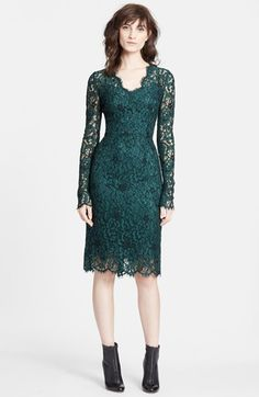 Dolce&Gabbana+Long+Sleeve+Lace+Sheath+Dress+available+at+#Nordstrom