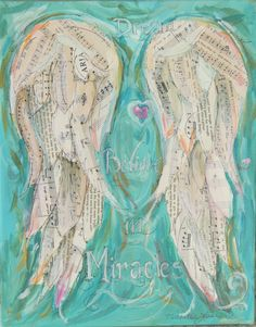 Custom order your own Angel Wings Mixed media painting created using antique books, music, hymns You may choose special words, songs, dates, quotes, etc. You can request certain colours. Would you like a different size? Please let me know. Your Angel Wings will ship in 1-2 weeks. It will be painted on the sides, signed and ready to hang. Is this a gift? I can ship anywhere. Please send me a convo if you have any questions. Copyright retained by me, Michelle Lake, the artist