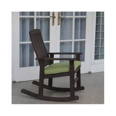 Porch Rocking Chair Wood Patio Furniture Weather Treated Outdoor Rockers Yard