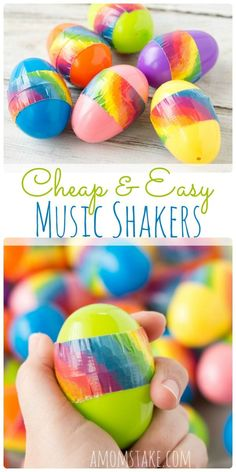 So easy to make in minutes - plastic Easter egg music shakers perfect for a LDS primary chorister, music leader, or preschool music time kids activity! via /amomstake/ Preschool Music Activities, Movement Activities, Easter Activities, Easter Crafts, Preschool Activities, Crafts For Kids, Spring Activities, Easter Ideas, Fun Crafts
