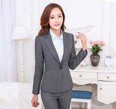Günstige kostenloser versand professionellen formal einheitliche Arten weiblichen hosenanzüge damen büro jacken und hosen schlanke mode hose set, Kaufe Qualität Pant Anzüge direkt vom China-Lieferanten: pp
