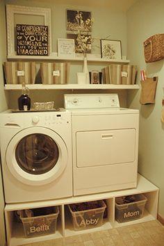 """Mud Room Makeover: Part 1"" -- From Tremendously Thrifty, a laundry makeover."