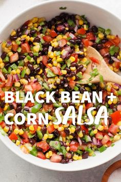 This hearty Black Bean and Corn Salsa makes a wonderful summertime meal – just add chips! Black Bean Corn Salsa, Dried Black Beans, Black Bean Recipes, Cooking Dried Beans, Healthy Crockpot Recipes, Vegan Meals, Vegetarian Recipes, Sustainable Food, Best Appetizers