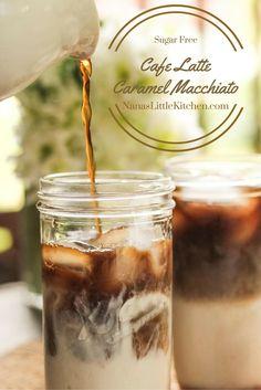 Cafe Latte Caramel Macchiato-Nanaslittlekitchen.com   Finally a sugar free alternative coffee drink so good that you won't miss the carbs one bit.
