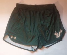 South Florida Bulls Shorts Mens Track Adult Large Under Armour Green NCAA #UnderArmour #SouthFloridaBulls