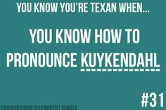 "You know you're Texan when you know how to pronounce Kuykendahl! And I remember when it was a 2 lane road...and 1960 was called ""Jackrabbit Road"".....used to live in a big house at the corner of 1960 and Kuykendahl......our address was 15623 Kuykendahl."