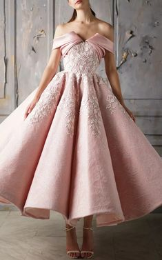 Charming Off The Shoulder Flower Embroidery Zipper Up Ball Gown, Beautiful Prom Dress M2722