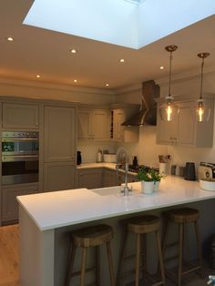 Crewe Road – Classic Kitchens New Site Open Plan Kitchen Diner, Kitchen Remodel Small, Open Plan Kitchen Dining, Kitchen Design, Skylight Kitchen, Classic Kitchens, Open Plan Kitchen Living Room, Open Plan Kitchen Dining Living, Small Kitchen Diner