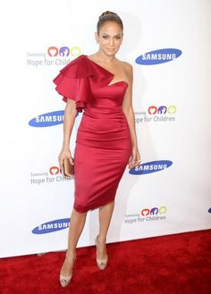 JLo in Red Dress